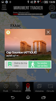 Screenshot of Guide Grece Monument Tracker