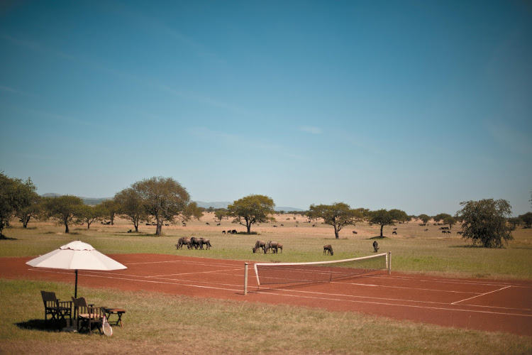 Singita Sabora tennis court
