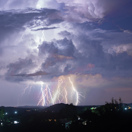 Lighting storm by Nermin Huskić - Landscapes Weather ( lightning, outdoors, outdoor photography, night, nightscape, weather, clouds, thunder, thunderstorm, long exposure, landscape, night photography,  )
