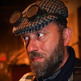 My Name Is Smith, Blacksmith! by Marco Bertamé - People Portraits of Men ( blacksmith, glasses, cap, beard, worker, sweaty, serious, man, portrait,  )