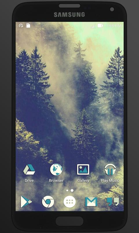 BlueMia - icon pack Screenshot 4
