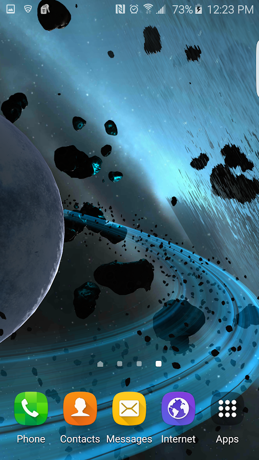 Alien Galaxy 3D Live Wallpaper Screenshot 2