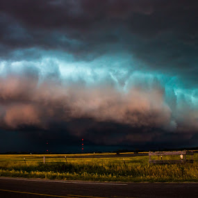 Illinois Ave by Eric Anderson - Landscapes Weather ( clouds, stormscape, shelf cloud, weather, shelf, supercell, severe, landscape, storm )