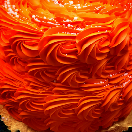 Orange Flourished Cake by Lope Piamonte Jr - Food & Drink Cooking & Baking