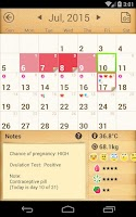 Screenshot of Period Calendar