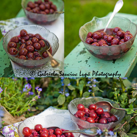 Sour Cherries And Berries Compote