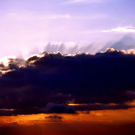 Clouds at Sunset by Peter Art - Landscapes Cloud Formations