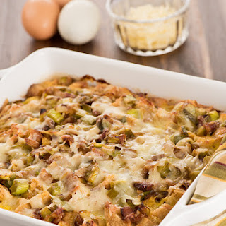 Bacon, Leek and Cheese Strata