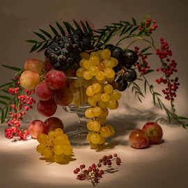 grape time now by Enver Karanfil - Artistic Objects Still Life ( urla, red, still life, grape, turkey )