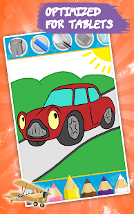 Cars coloring book for kids- screenshot thumbnail
