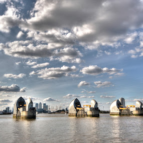 Thames Barrier by Rob Colclough - Buildings & Architecture Other Exteriors
