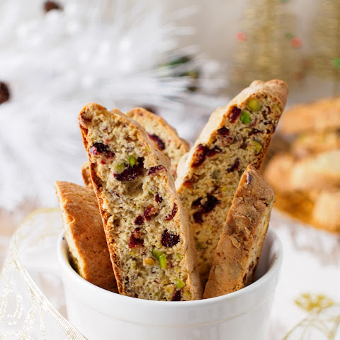 Cranberry, Orange And Pistachio Biscotti Recipe — Dishmaps