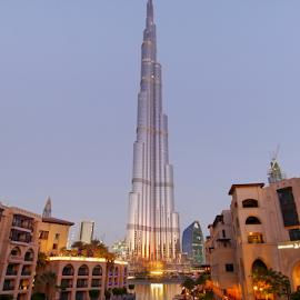 Burj Chalifa by Petr Podroužek - Buildings & Architecture Office Buildings & Hotels ( water, reflection, building, chalifa, dubai )