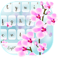 Orchid Floral Typewriter