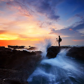 Duel by Hendri Suhandi - People Portraits of Men ( bali, sunset, street, beach, people )