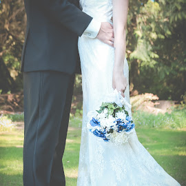 Secret by Jenny Hammer - Wedding Bride & Groom ( bride, outdoor, spring, groom, wedding )
