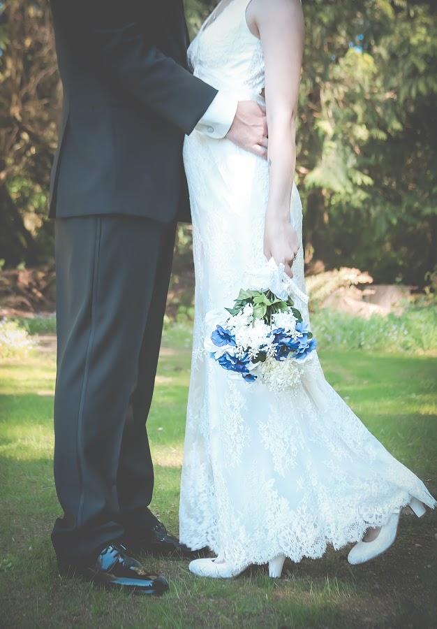 Secret by Jenny Hammer - Wedding Bride & Groom ( bride, outdoor, spring, groom, wedding )