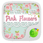 Pink Flowers GO Keyboard Theme 4.178.100.84 Apk