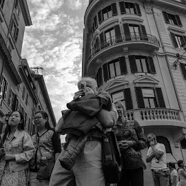 by Cristian Oprescu - People Street & Candids ( black and white, street photography, photographers, taking a photo, photographing, photographers taking a photo, snapping a shot,  )