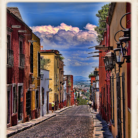 calle pila seca, san miguel de allende, mexico by Jim Knoch - City,  Street & Park  Street Scenes