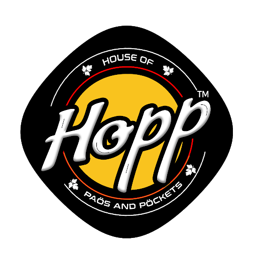 Hopp-house of paos and pockets, Mundhwa, Mundhwa logo