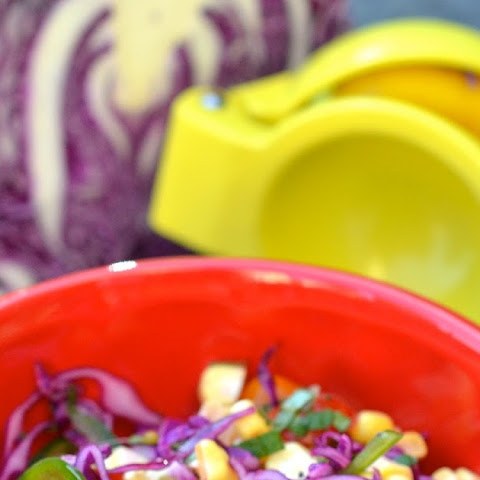 Spicy Cabbage and Corn Salad