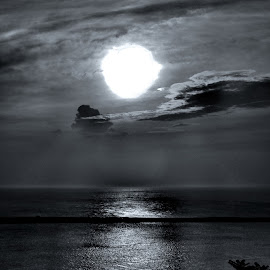 Circle At The End Of The World by Gary Ambessi - Black & White Landscapes