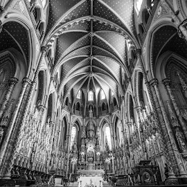 Details  by Roland Bast - Black & White Buildings & Architecture ( canada, church, black and white, buildings, ottawa )
