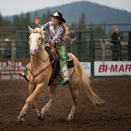 Rodeo Queen by Craig Lybbert - Sports & Fitness Rodeo/Bull Riding ( queen, horse, rodeo, palamino, cowgirl )