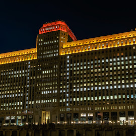 All lit up by Vinod Kalathil - Buildings & Architecture Office Buildings & Hotels ( illinois, night, architecture, chicago, united states )