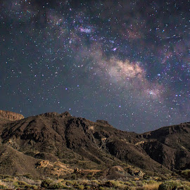 Milky Way Rising over Tenerife by Peter Louer - Landscapes Starscapes ( starfields, tenerife, stars, astrophotography, nightyscape )