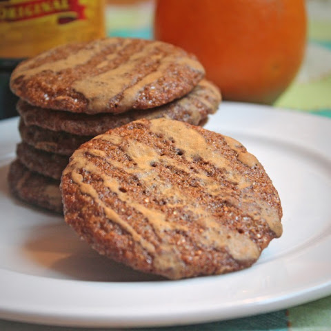 Molasses-Orange Cookies with Espresso Glaze