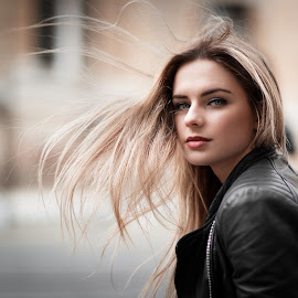 by Luca Foscili - People Portraits of Women ( wind, natural light, face, model, fashion, beautiful, parma, beauty, portrait, eyes, glamour, girl, italia, woman, nikon d800, d800, outdoors, luca foscili )