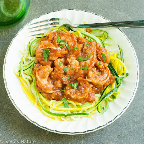 Shrimp Fra Diavolo over Zoodles