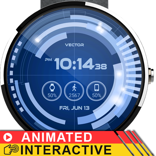 Vector GUI Watch Face Screenshot 8