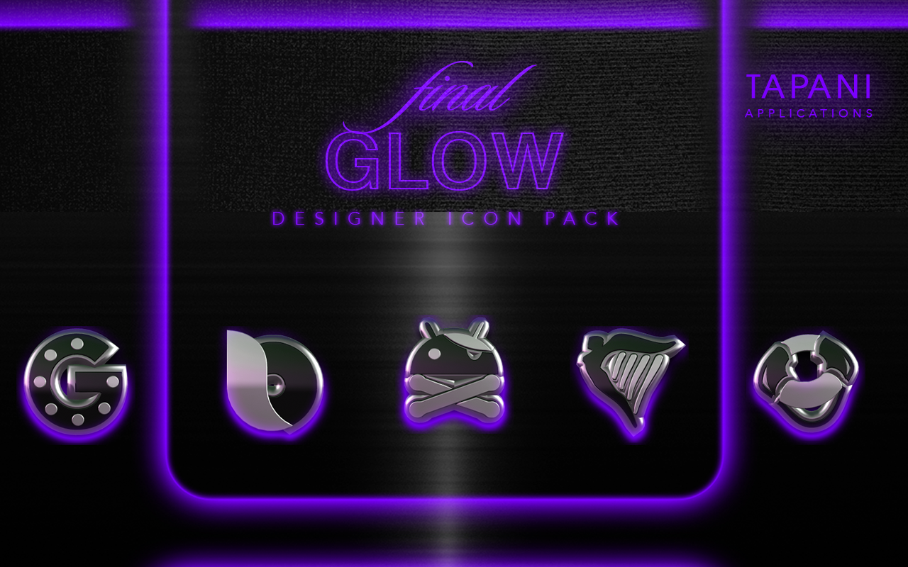 icon pack HD 3D glow purple Screenshot 5