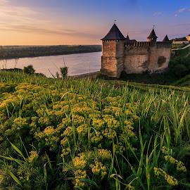 Hotin by Sveduneac Dorin Lucian - Landscapes Sunsets & Sunrises ( history, fortress, sunrise, landscape, spring )