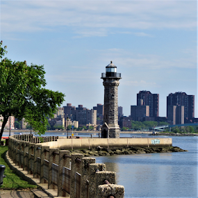 Roosevelt Island Lighthouse NYC. by Hal Gonzales - Buildings & Architecture Public & Historical ( lighthouse, buildings, nyc, historical, east river,  )