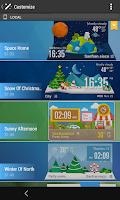 Screenshot of Moto Blur style Atrix Clock