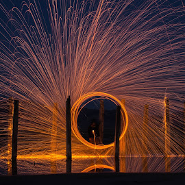 Ring of Fire by Jennifer Brannin - Abstract Light Painting (  )