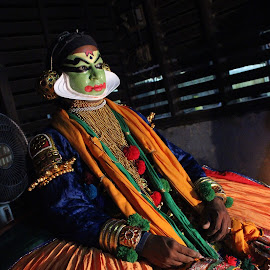 kathakali artist by Adithyan Madhav - People Musicians & Entertainers