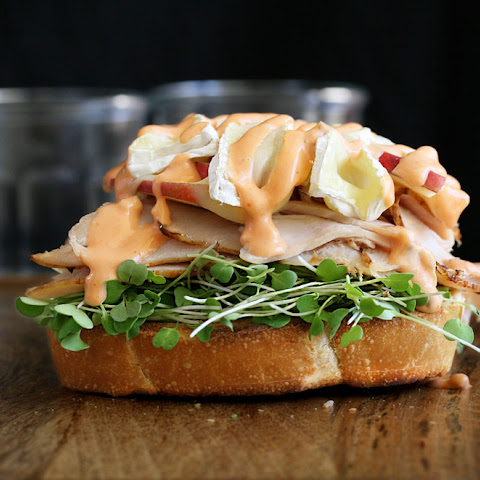 Turkey, Apple & Brie Open-face Sandwich