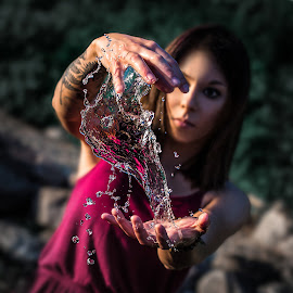 Bending Water by Kyle Re - People Street & Candids ( water, control, highspeed, detail, glassy, manipulate, clear, macro, fineart, liquid, girl, nature, hands, sunny, outdoor, artistic, capture )