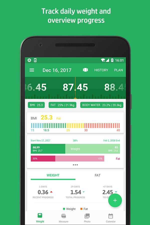 Weight Track Assistant - Free weight tracker Screenshot