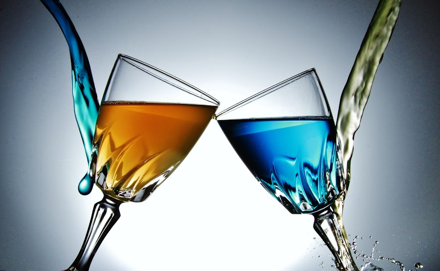 Twin glasses 10. by Peter Salmon - Artistic Objects Glass