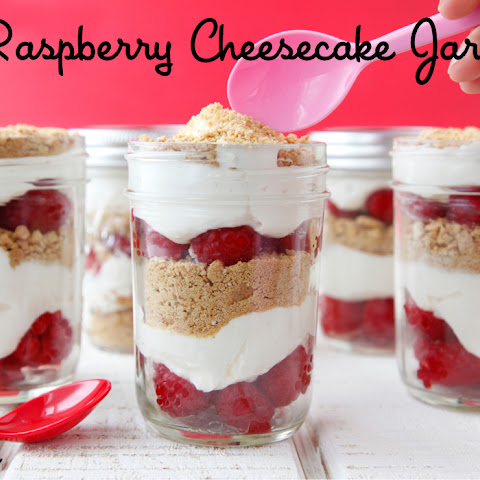 Raspberry Cheesecake Jars