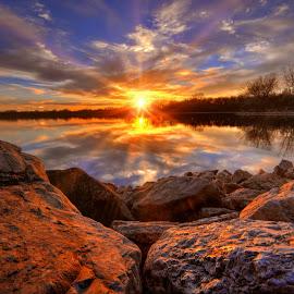 Stagecoach on the rocks by DE Grabenstein - Landscapes Sunsets & Sunrises