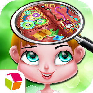Cartoon Girl's Brain Surgery