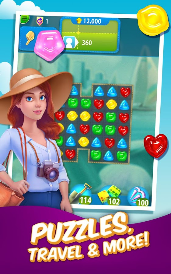 Gummy Drop! – Free Match 3 Puzzle Game Screenshot