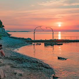 by Miho Kulušić - People Professional People ( shore, photojournalism, sunset, photographer, seascape )